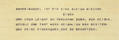 Nietzscheho báseň o psací kouli